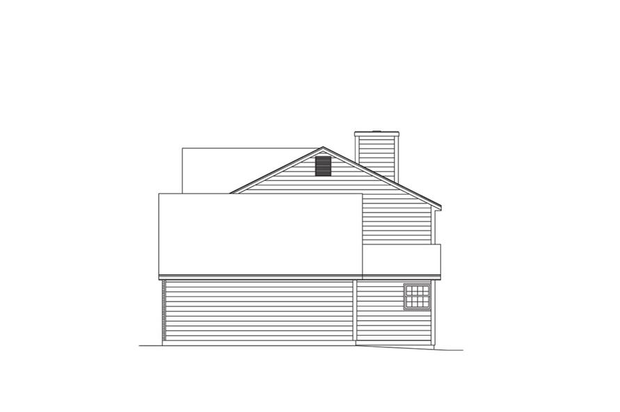 138-1008: Home Plan Right Elevation