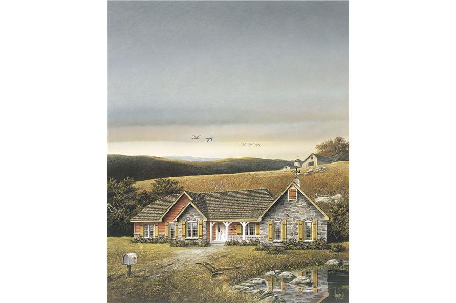138-1009: Home Plan Rendering