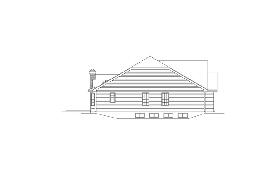 Home Plan Left Elevation of this 4-Bedroom,2874 Sq Ft Plan -138-1009