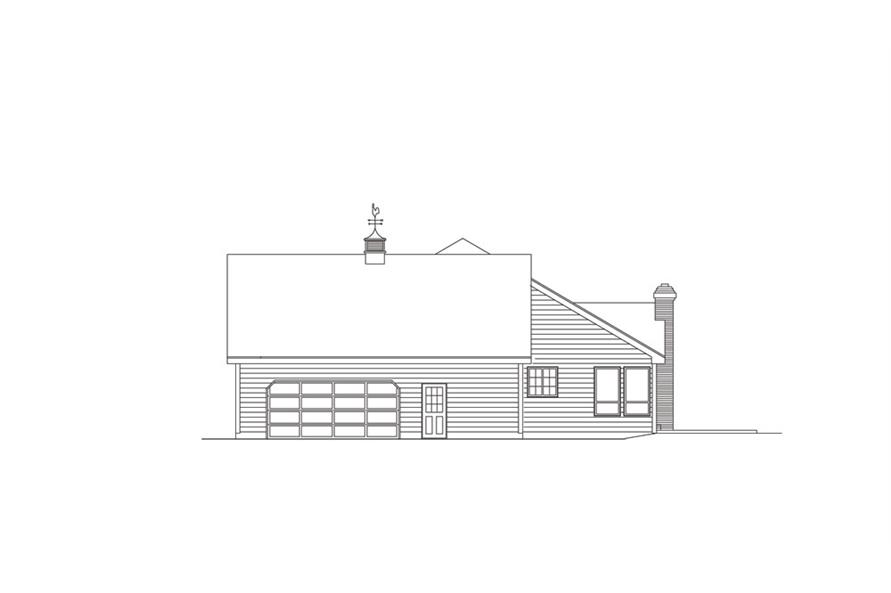 138-1009: Home Plan Right Elevation