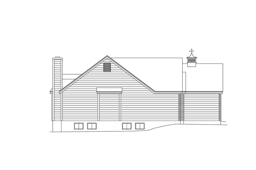 138-1010: Home Plan Left Elevation