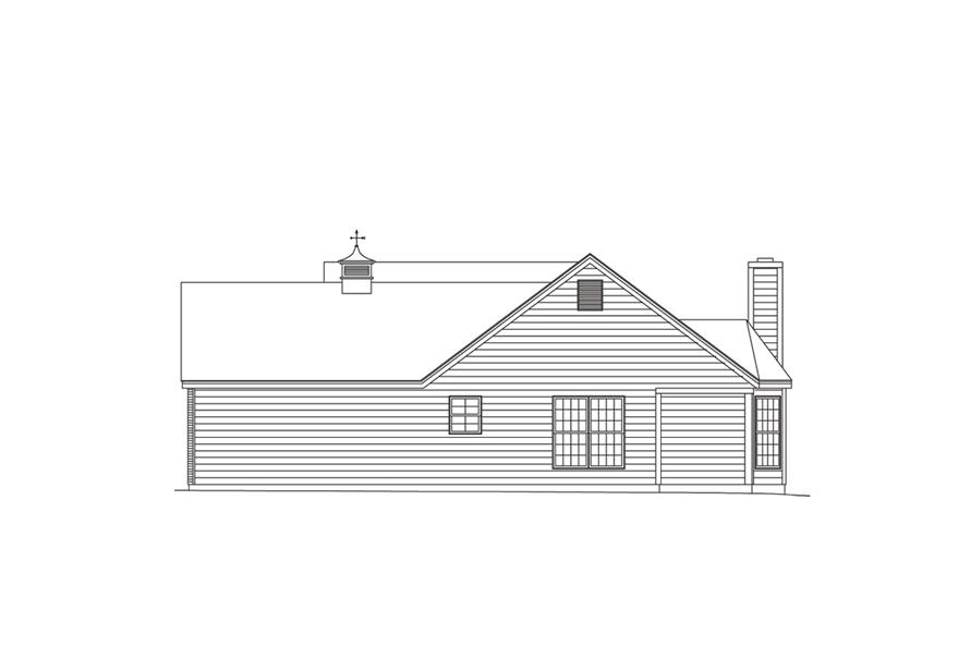 138-1010: Home Plan Right Elevation