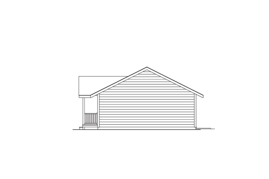 138-1011: Home Plan Right Elevation