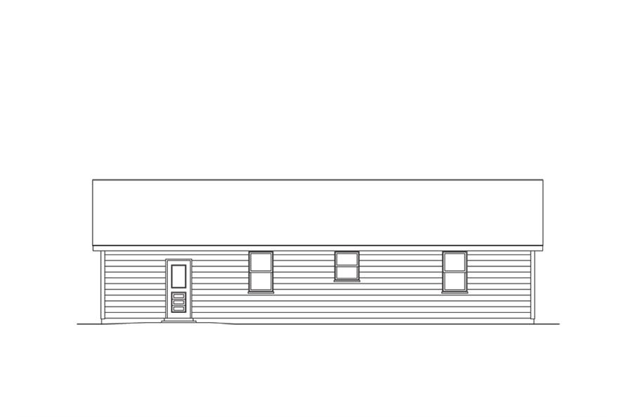 138-1011: Home Plan Rear Elevation
