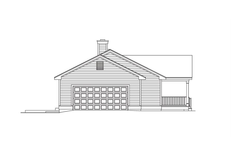 138-1012: Home Plan Left Elevation