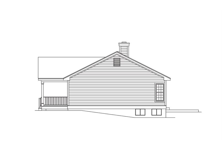 138-1012: Home Plan Right Elevation