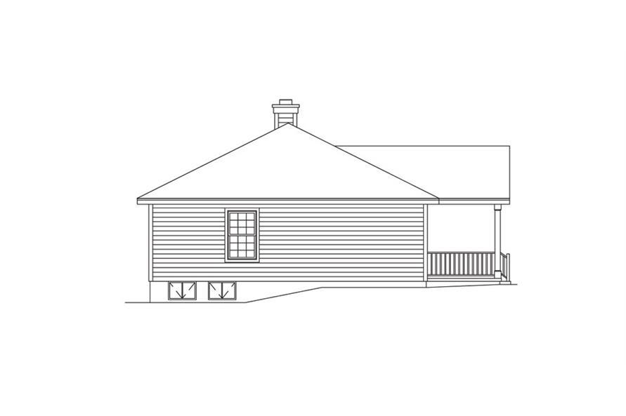 138-1013: Home Plan Left Elevation