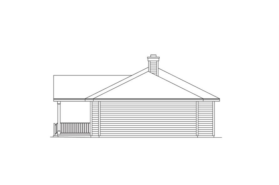 138-1013: Home Plan Right Elevation