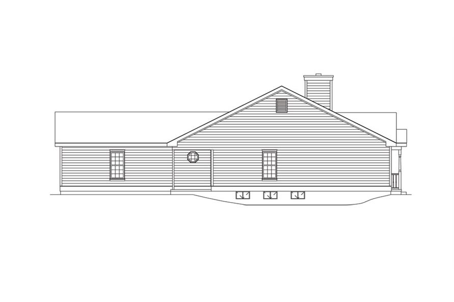 Home Plan Left Elevation of this 3-Bedroom,1501 Sq Ft Plan -138-1014