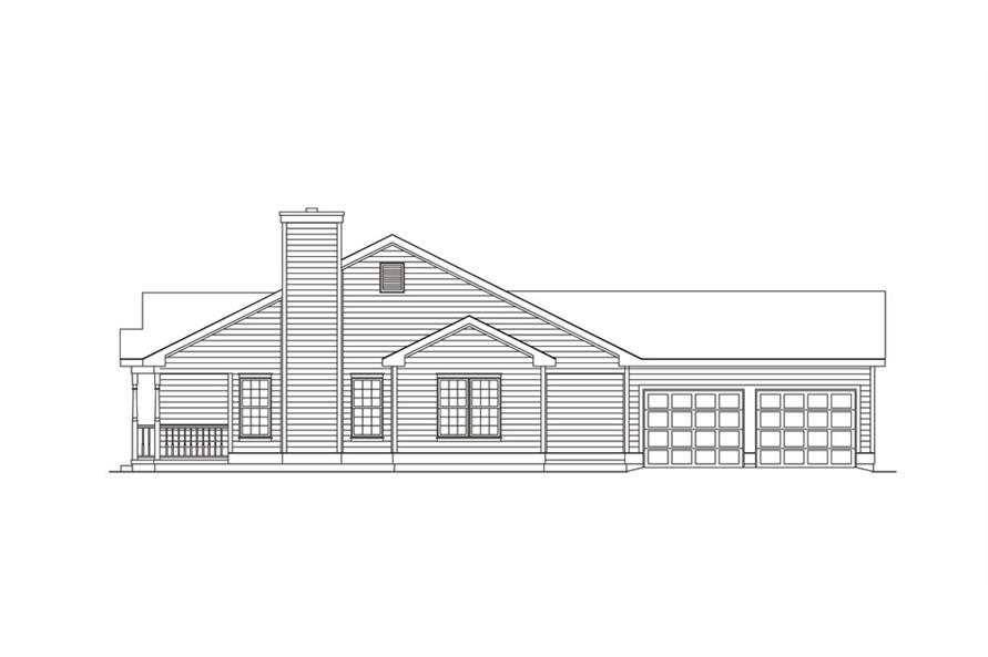 138-1014: Home Plan Right Elevation