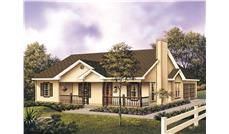 Front elevation of Traditional home (ThePlanCollection: House Plan #138-1014)