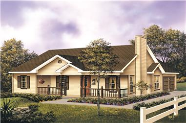 3-Bedroom, 1501 Sq Ft Traditional House Plan - 138-1014 - Front Exterior