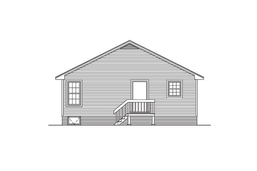 138-1015: Home Plan Rear Elevation