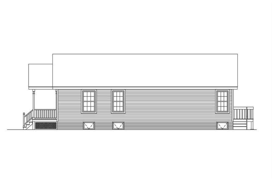 138-1015: Home Plan Right Elevation