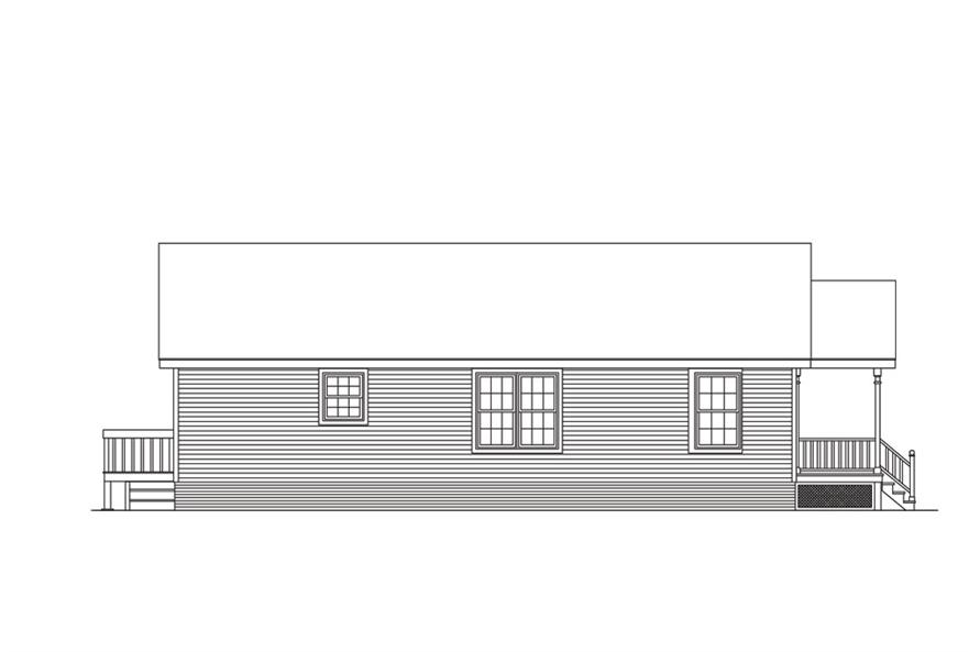 138-1015: Home Plan Left Elevation