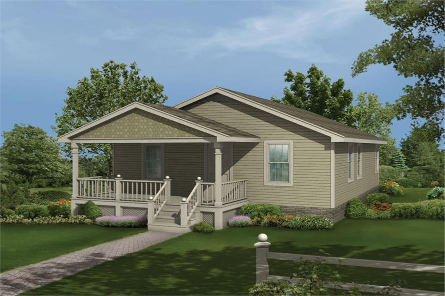 Front elevation of Country home (ThePlanCollection: House Plan #138-1015)