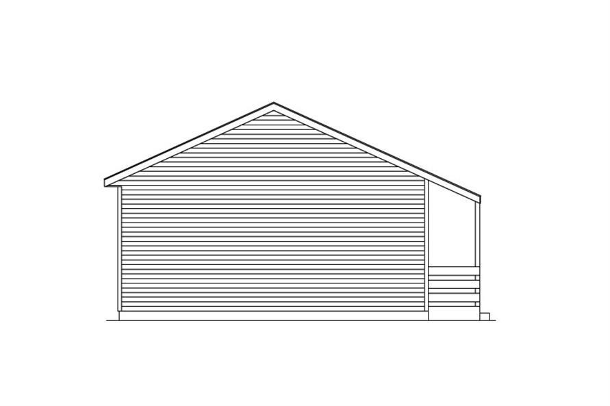 138-1016: Home Plan Left Elevation