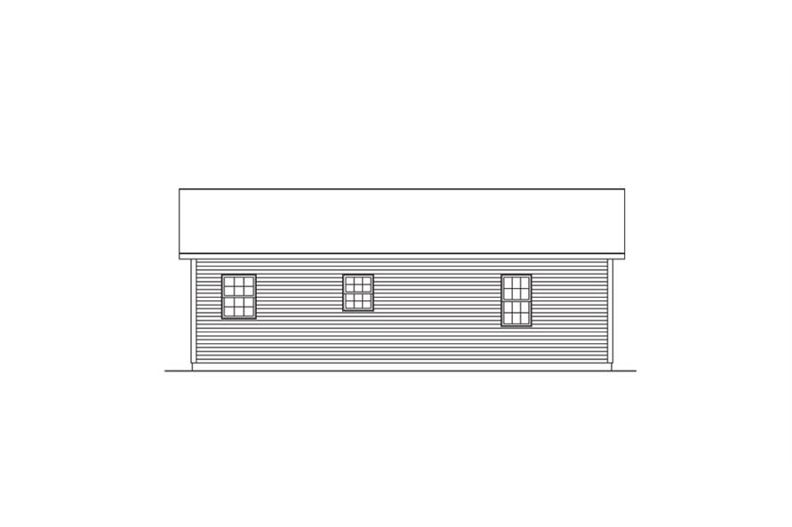 138-1016: Home Plan Rear Elevation