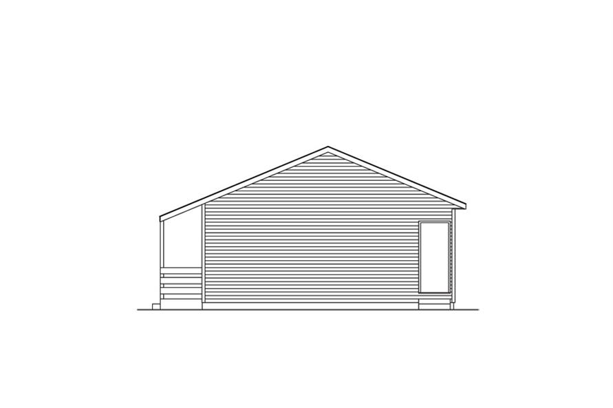 138-1016: Home Plan Right Elevation