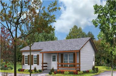 2-Bedroom, 864 Sq Ft Country House Plan - 138-1016 - Front Exterior