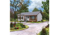 Front elevation of Country home (ThePlanCollection: House Plan #138-1016)
