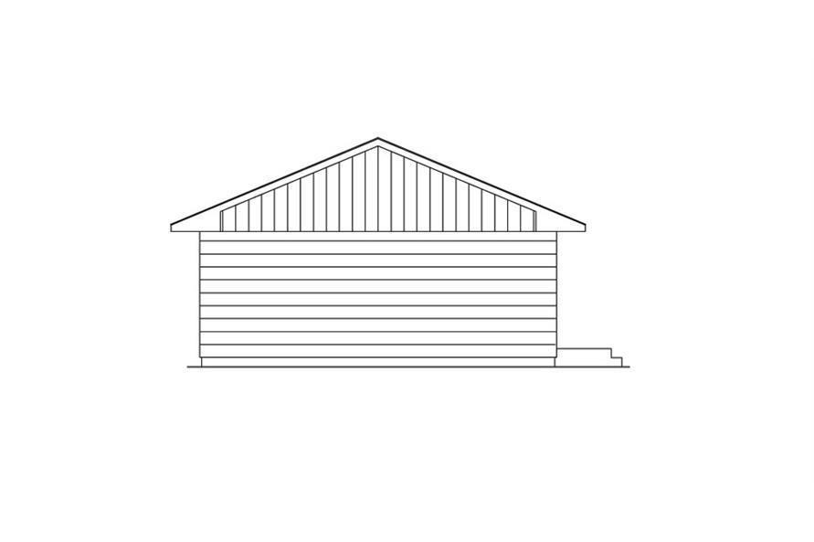 138-1017: Home Plan Left Elevation
