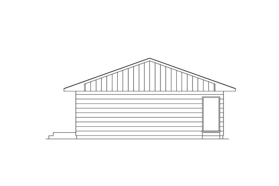 138-1017: Home Plan Right Elevation