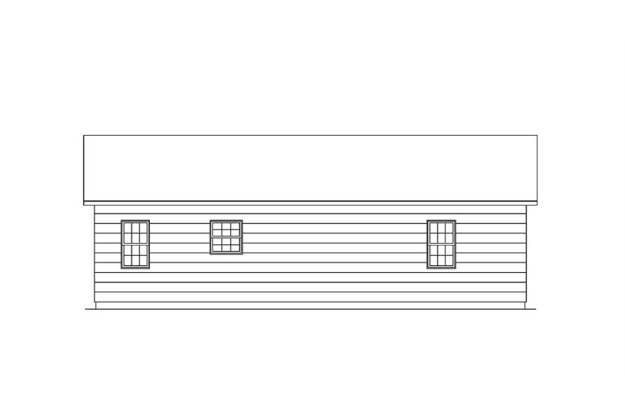 138-1017: Home Plan Rear Elevation