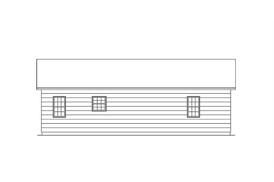 138-1017: Home Plan Rear Elevation