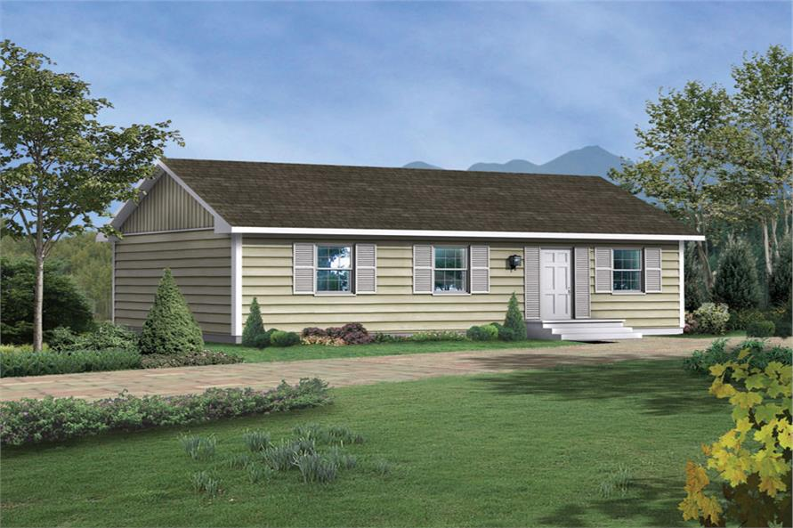 Front elevation of Traditional home (ThePlanCollection: House Plan #138-1017)