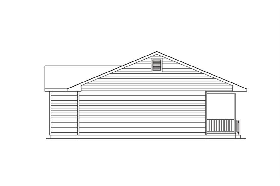 138-1019: Home Plan Left Elevation