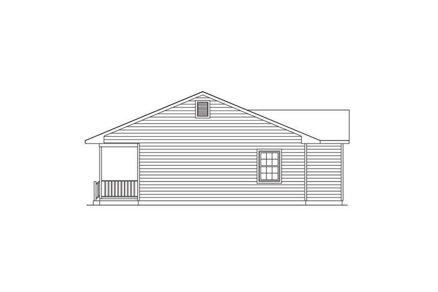 138-1019: Home Plan Right Elevation