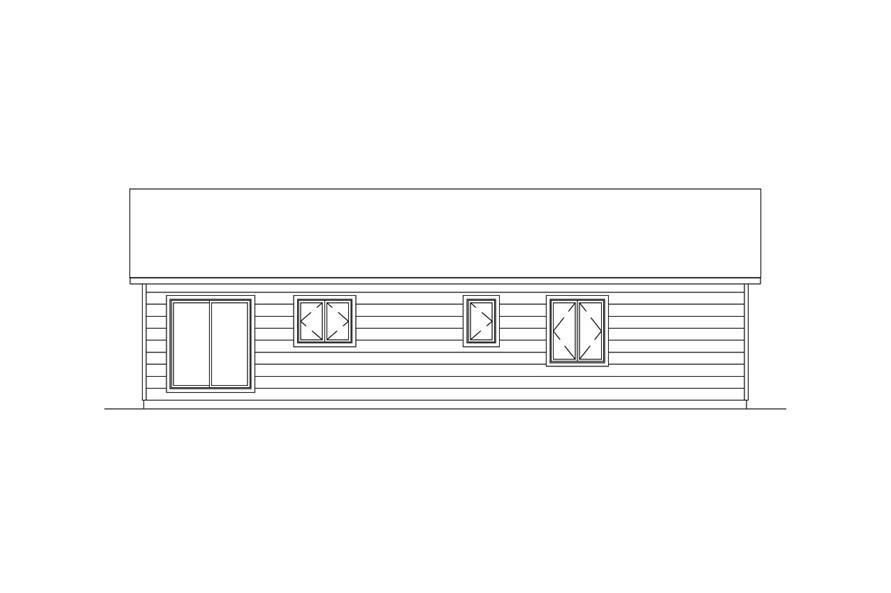 138-1020: Home Plan Rear Elevation