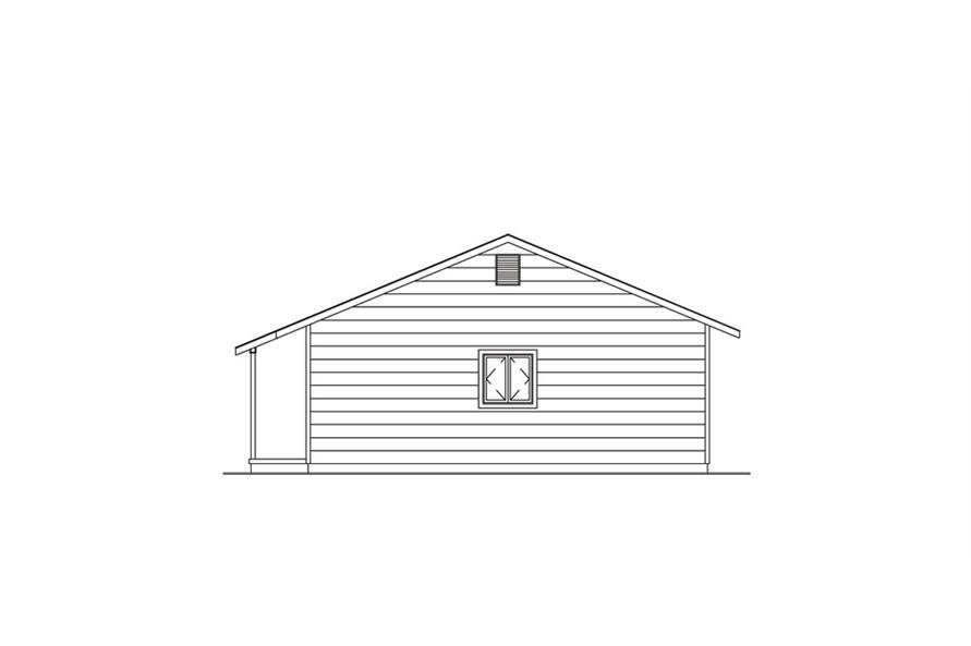 138-1020: Home Plan Right Elevation