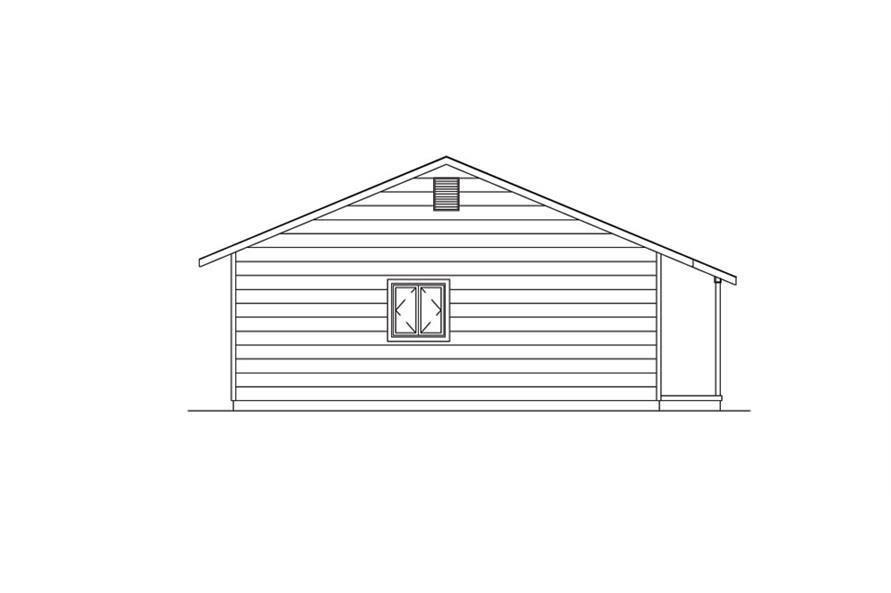 138-1020: Home Plan Left Elevation