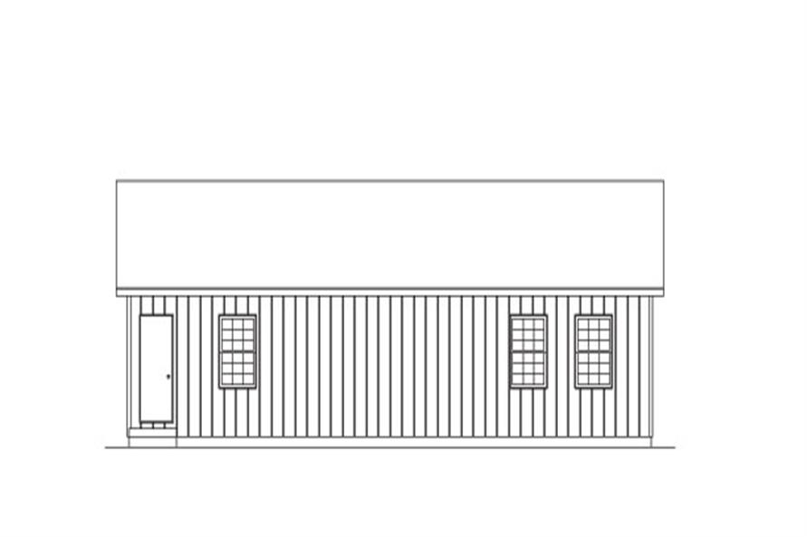 138-1021: Home Plan Rear Elevation