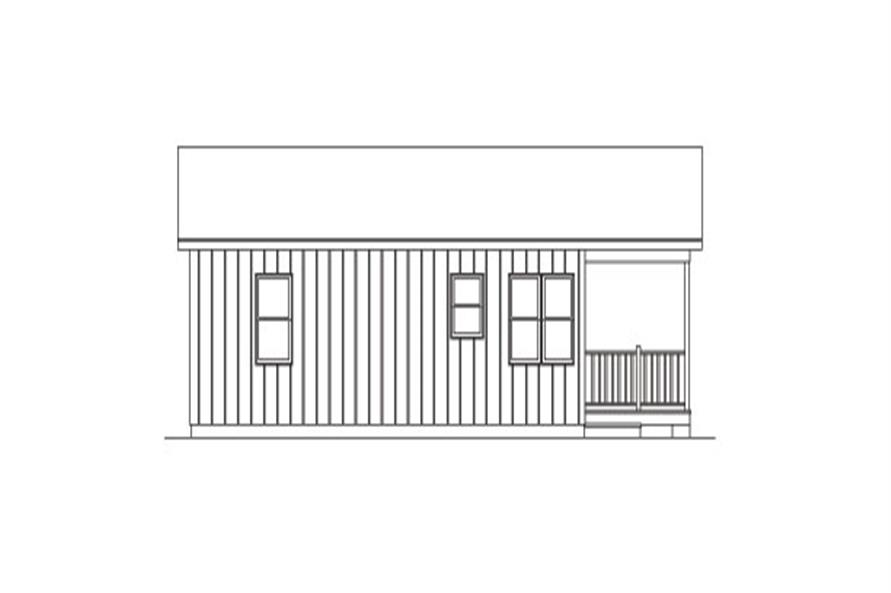 138-1022: Home Plan Left Elevation