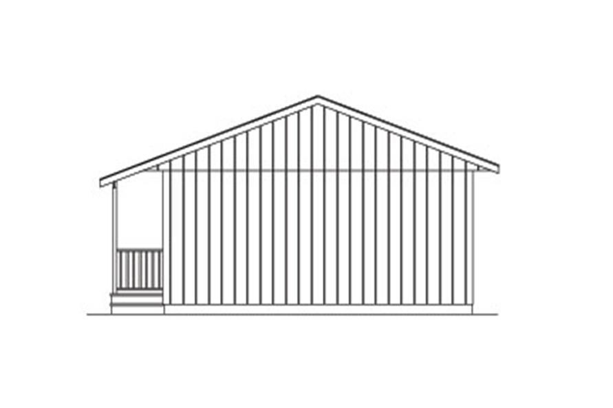 138-1022: Home Plan Rear Elevation