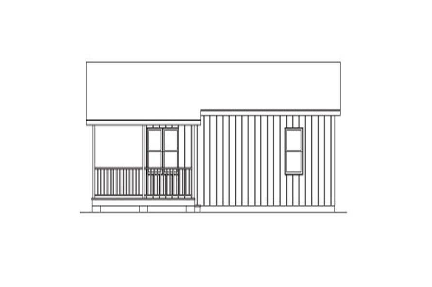 Home Plan Right Elevation of this 2-Bedroom,720 Sq Ft Plan -138-1022
