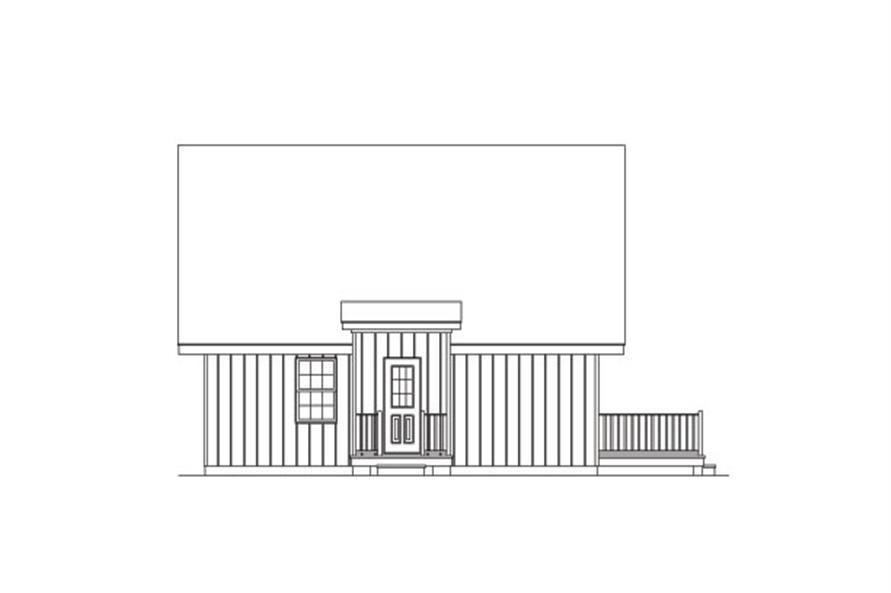 138-1023: Home Plan Left Elevation