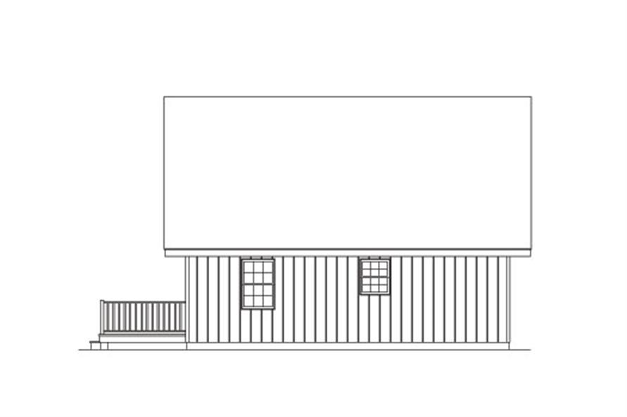 138-1023: Home Plan Right Elevation