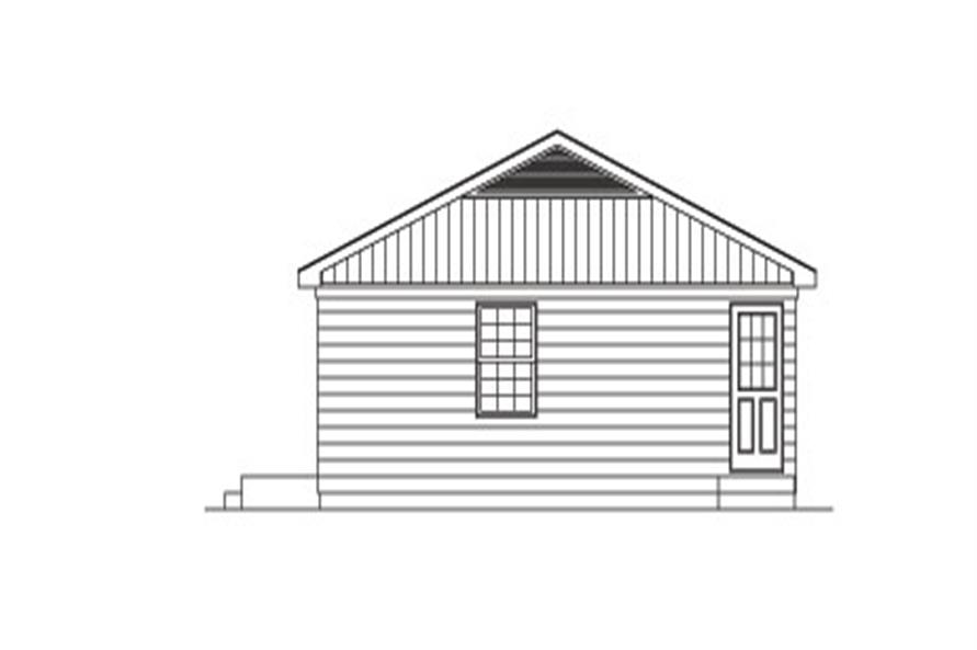 Home Plan Right Elevation of this 2-Bedroom,800 Sq Ft Plan -138-1024