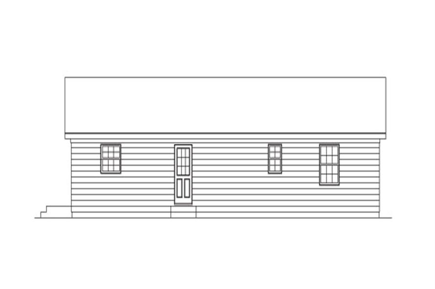 138-1025: Home Plan Rear Elevation