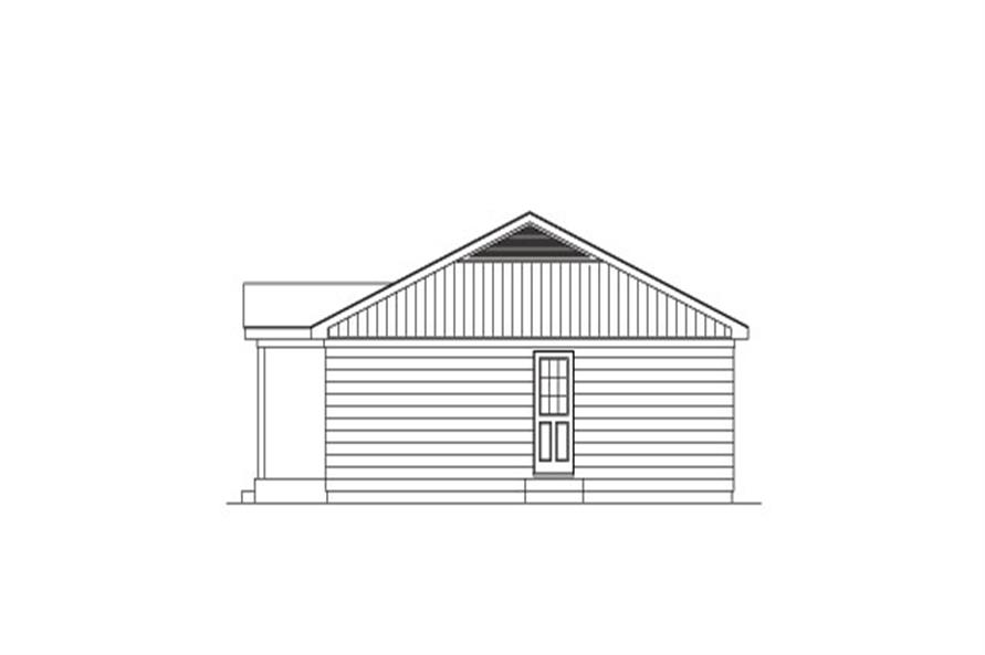 138-1025: Home Plan Right Elevation