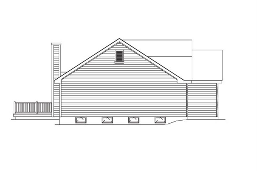 138-1026: Home Plan Left Elevation