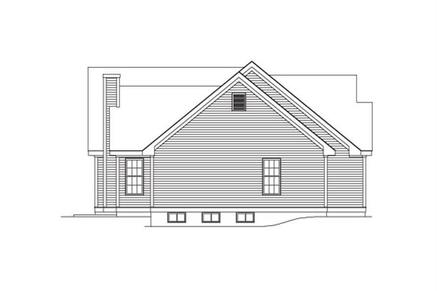 138-1027: Home Plan Left Elevation