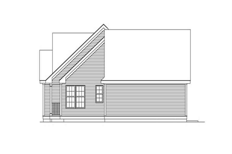 138-1027: Home Plan Rear Elevation