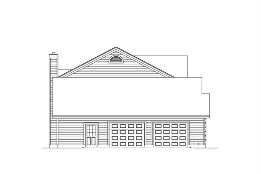 138-1028: Home Plan Left Elevation