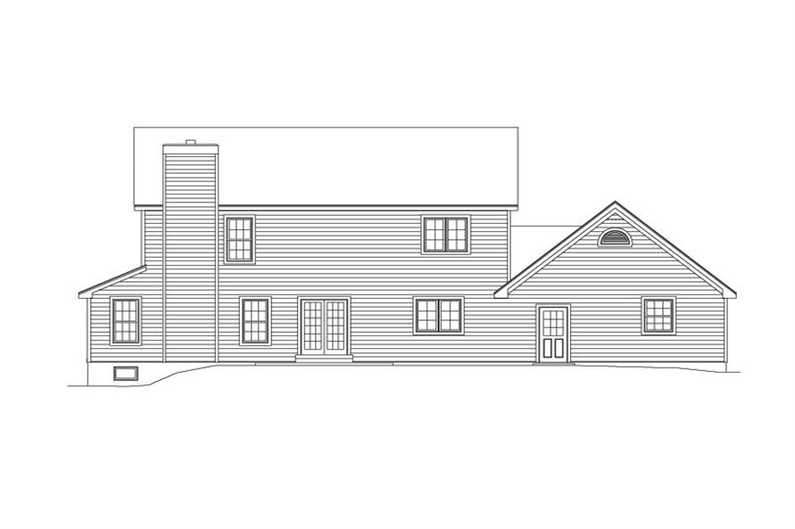 138-1028: Home Plan Rear Elevation