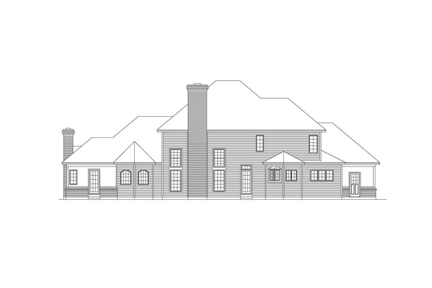 138-1030: Home Plan Rear Elevation